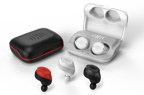 liveIQ prototypes in red, black, and white