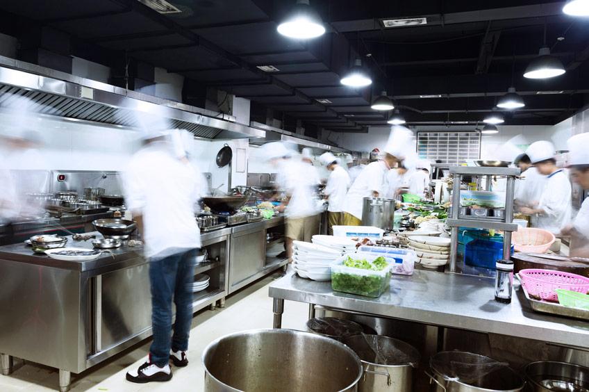 noisy restaurant kitchen